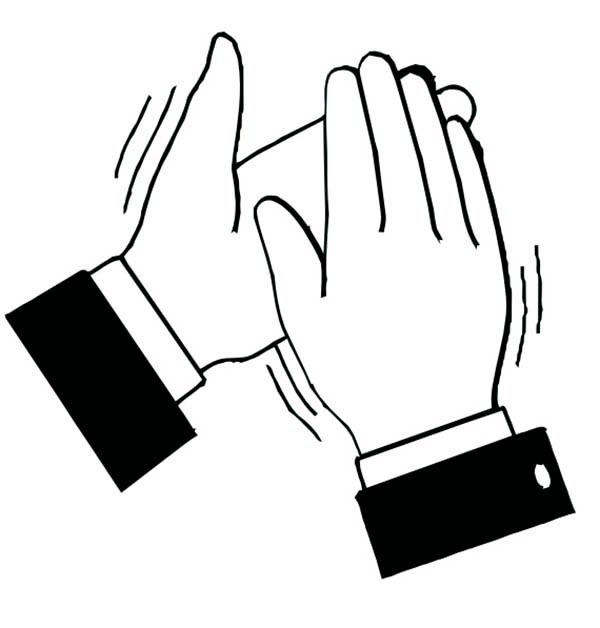 Clapping clipart black and white 5 » Clipart Portal.
