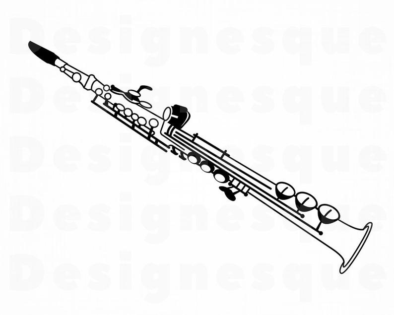 Clarinet #2 SVG, Clarinet SVG, Clarinet Clipart, Clarinet Files for Cricut,  Clarinet Cut Files For Silhouette, Clarinet Dxf, Png, Eps Vector.