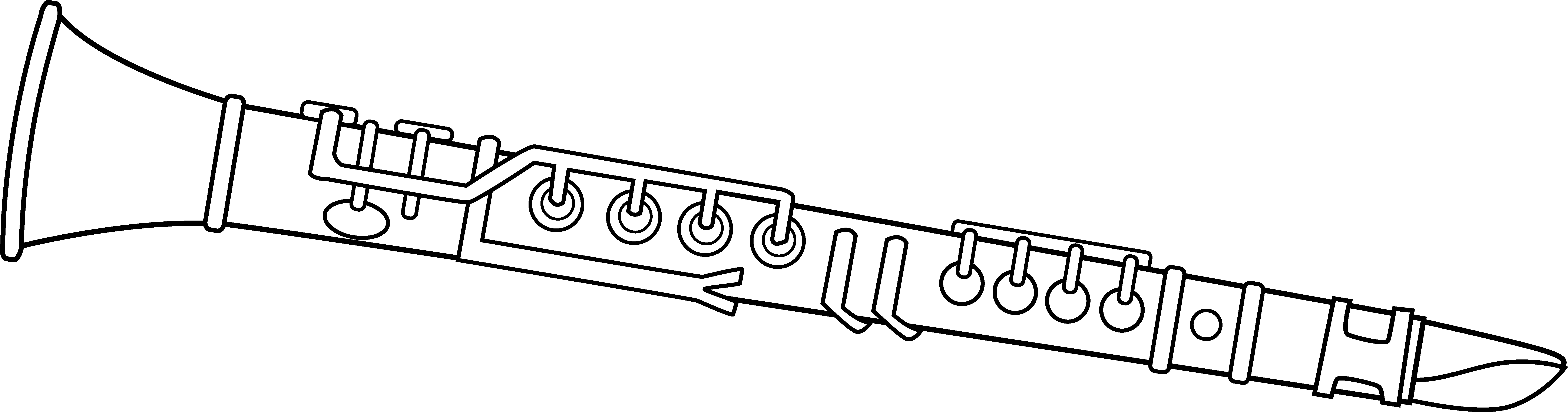 Black and White Clarinet Design.