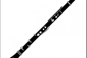Clarinet clipart black and white » Clipart Station.