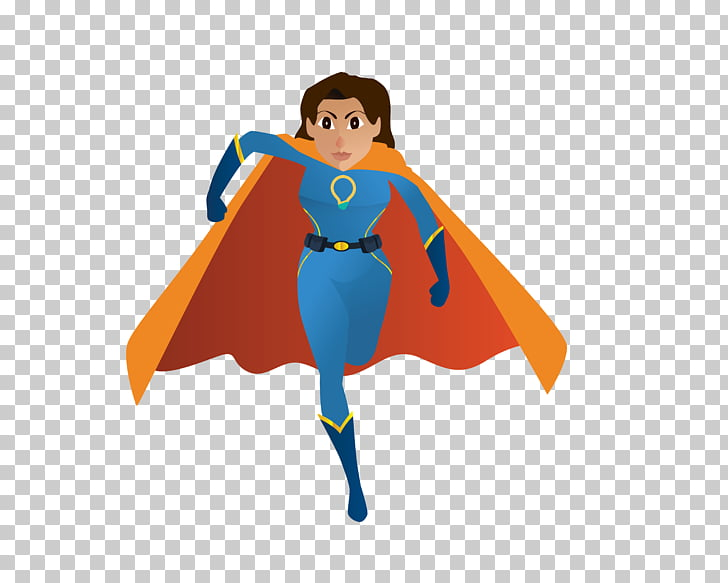 Clark Kent , Front running super girl PNG clipart.