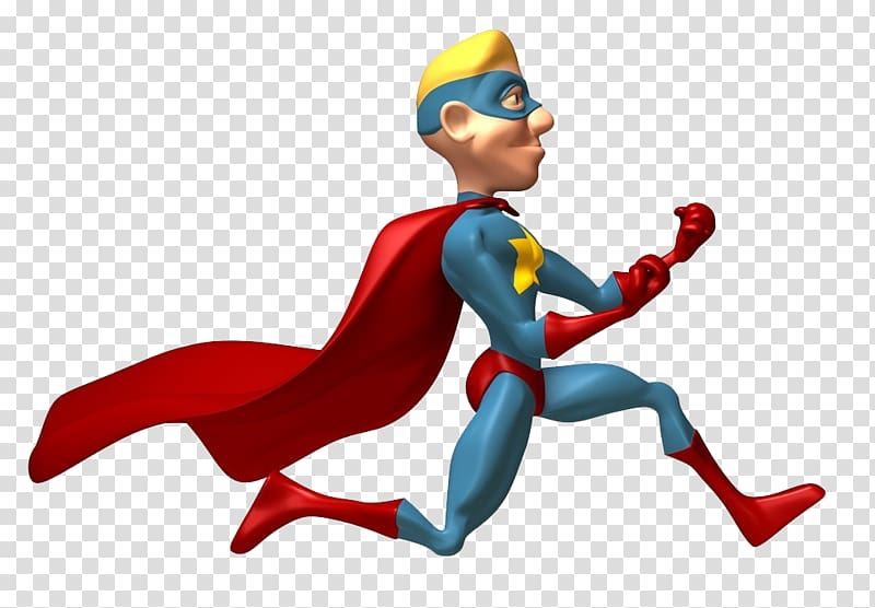 Flash Clark Kent Superhero , Running Superman transparent.