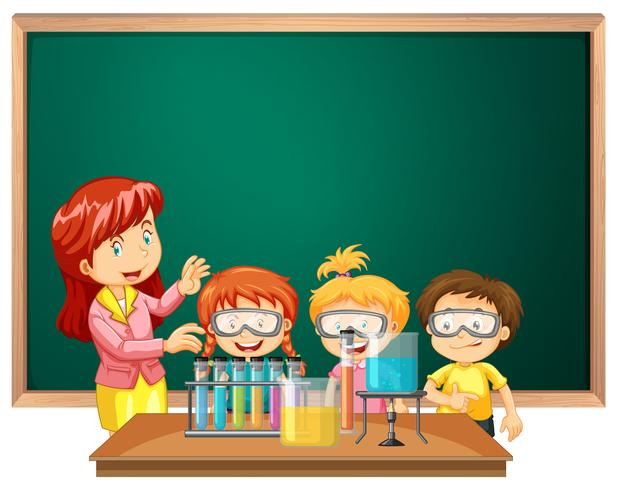 Students in the science class.