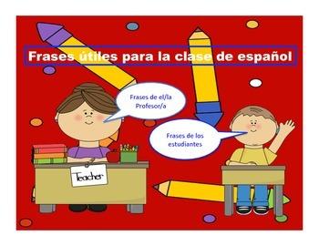 spanish survival phrases frases utiles para la clase de espanol.