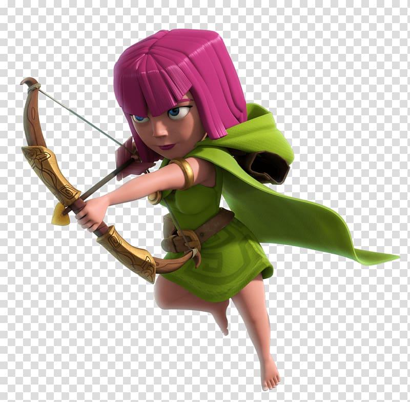 Clash of Clans Archer illustration, Clash Of Clans Female.