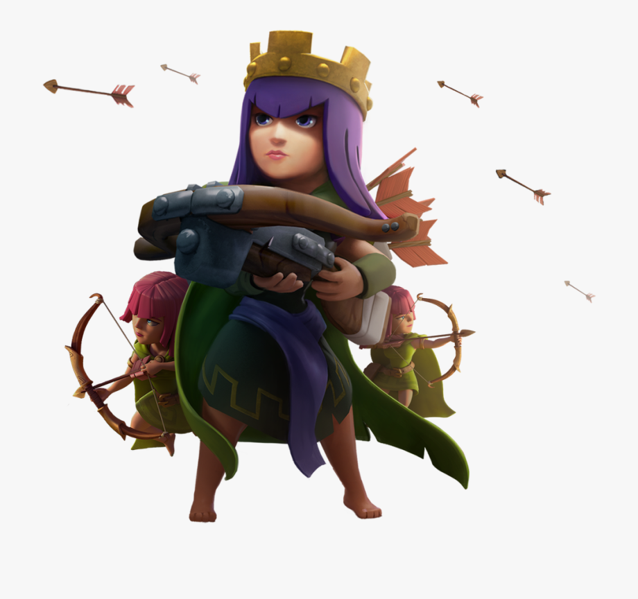 Clip Art Archer Queen Clash Of Clans.