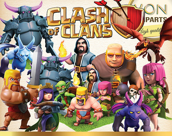 38 Clash of Clans Clipart PNG.