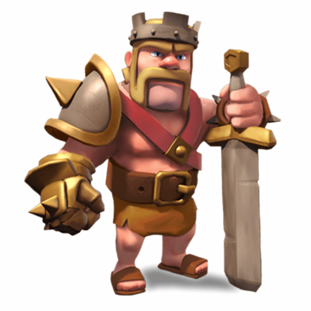 Clash Of Clans Barbarian King transparent PNG.
