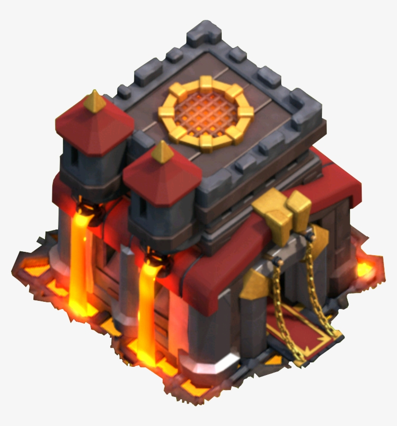Clash Of Clans Town Hall 10 Icon Transparent PNG.