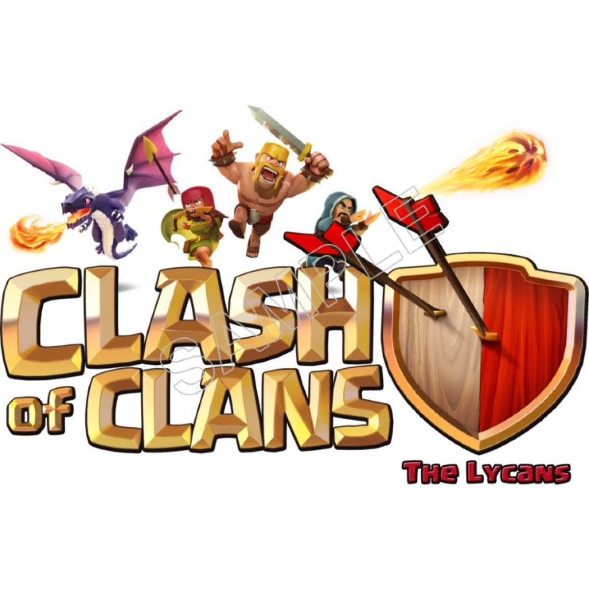 Clash of clans Logos.
