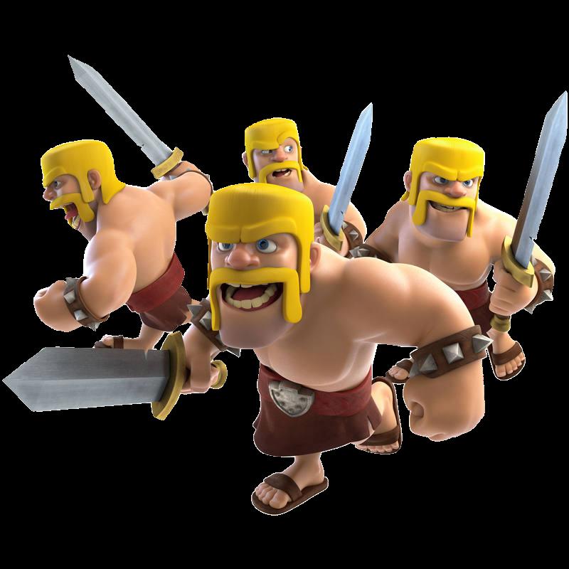 Barbarians png : ClashRoyale.