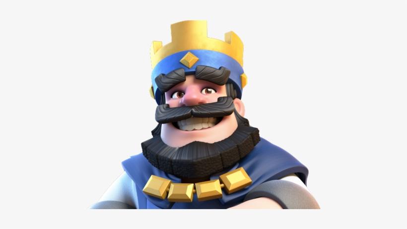 Blue King Clash Royale Png PNG Image.