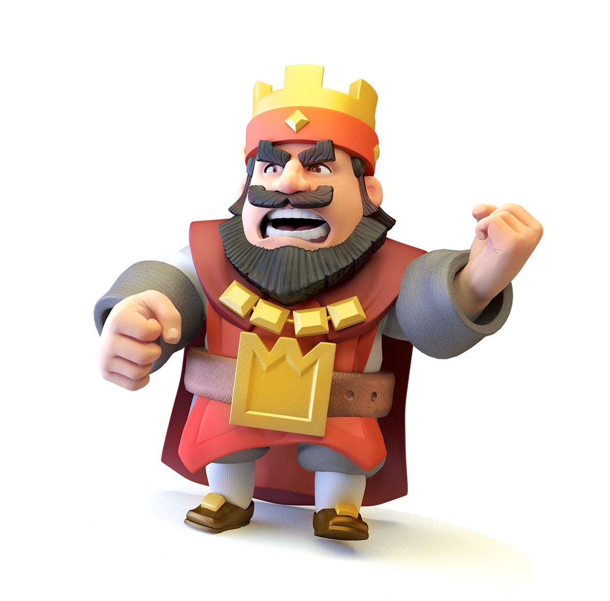 King from Clash Royale on Behance.