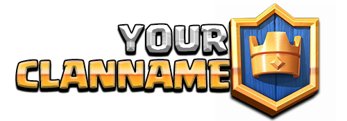 I made a Clash Royale Logo replica for all you guys to use for you.