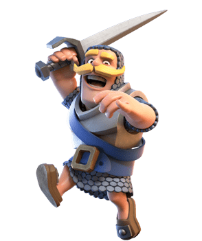 Clash Royale Knight Jumping transparent PNG.