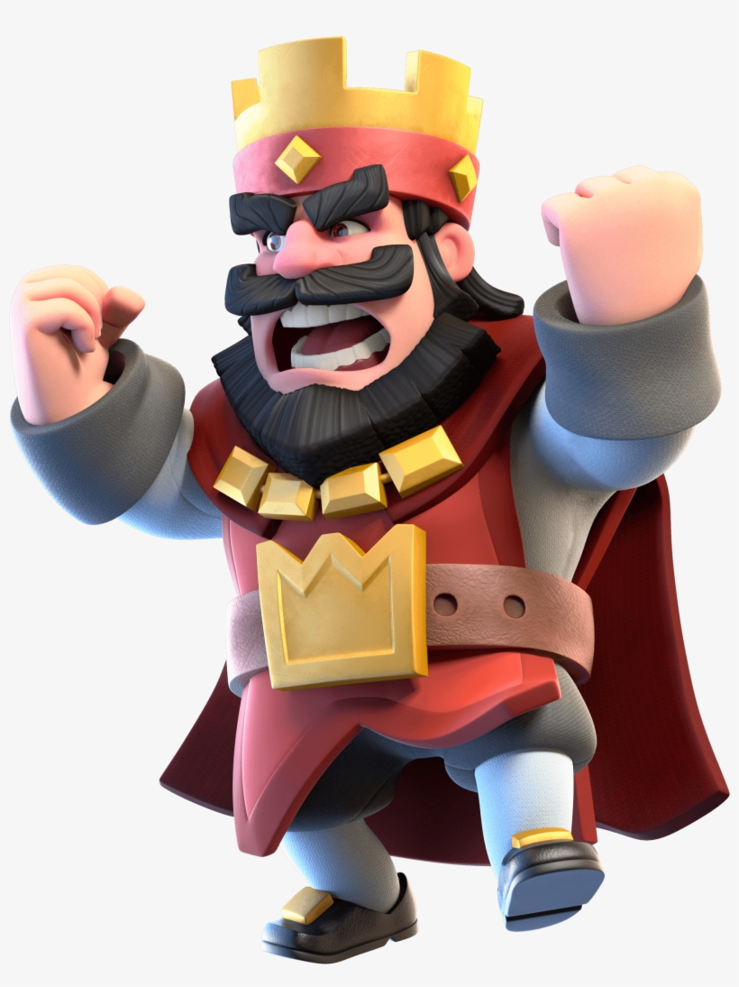 Clash Royale Red King Logo.