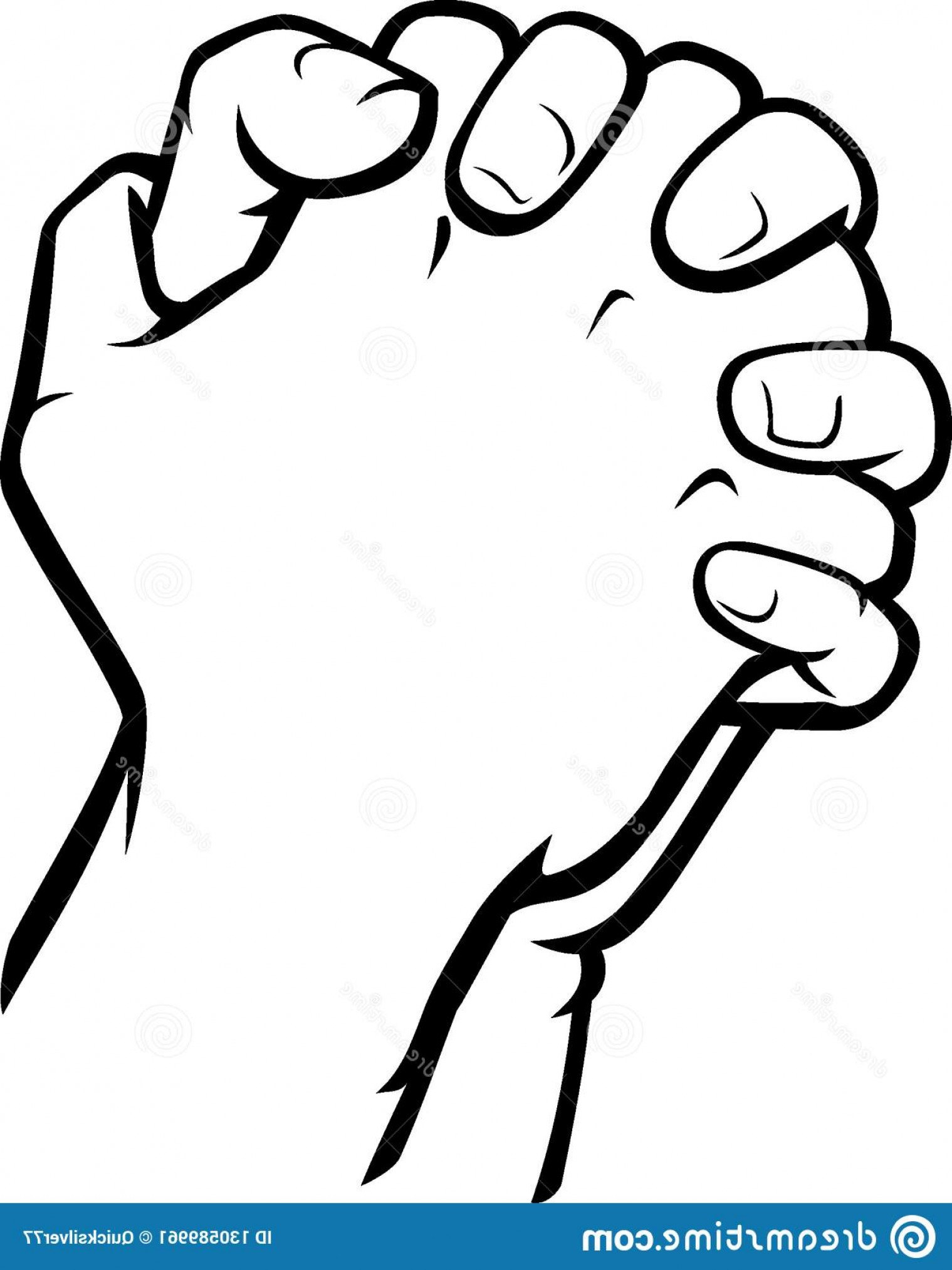 Isolated Vector Illustration Line Art Doodle Hand Clasp.
