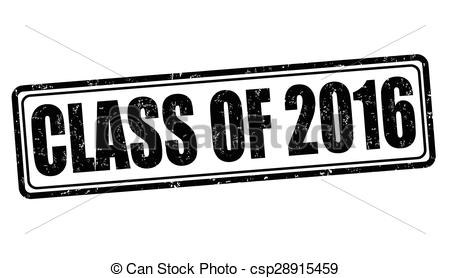 Vector Clip Art of Class of 2016 stamp.