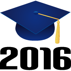 Class Of 2016 Blue Clip Art.