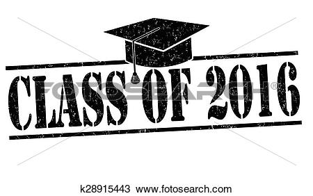 Clipart of Class of 2016 stamp k28915443.