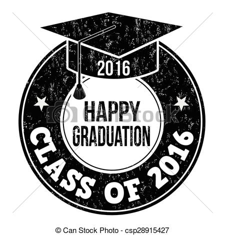 Vector Illustration of Class of 2016 stamp.