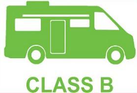 Free Class B RV Motorhome Clipart.