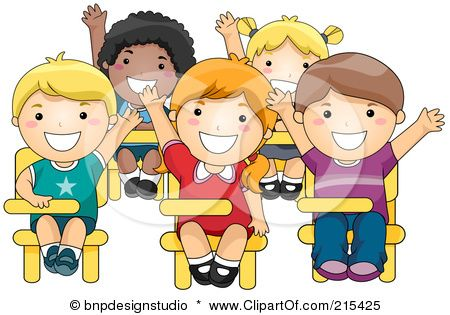 Kid Raising Hand in Class Clip Art The pciture is really one of.