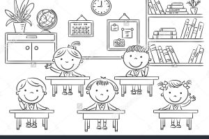 School classroom clipart black and white 2 » Clipart Station.