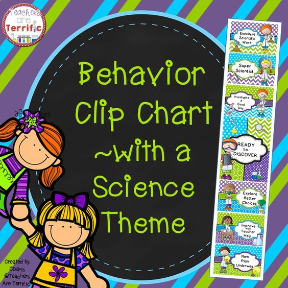 Behavior Clip Chart featuring a Science Theme.