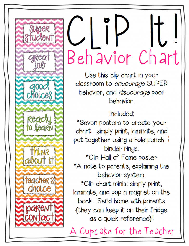 Clipart Behavior Charts.