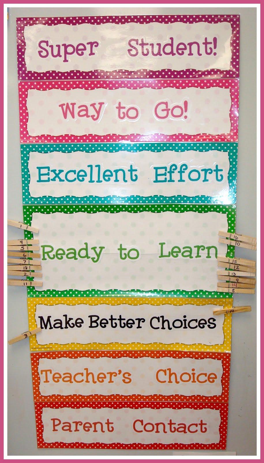 Classroom Clip Chart.