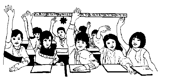 Black College Students Classroom Clipart.