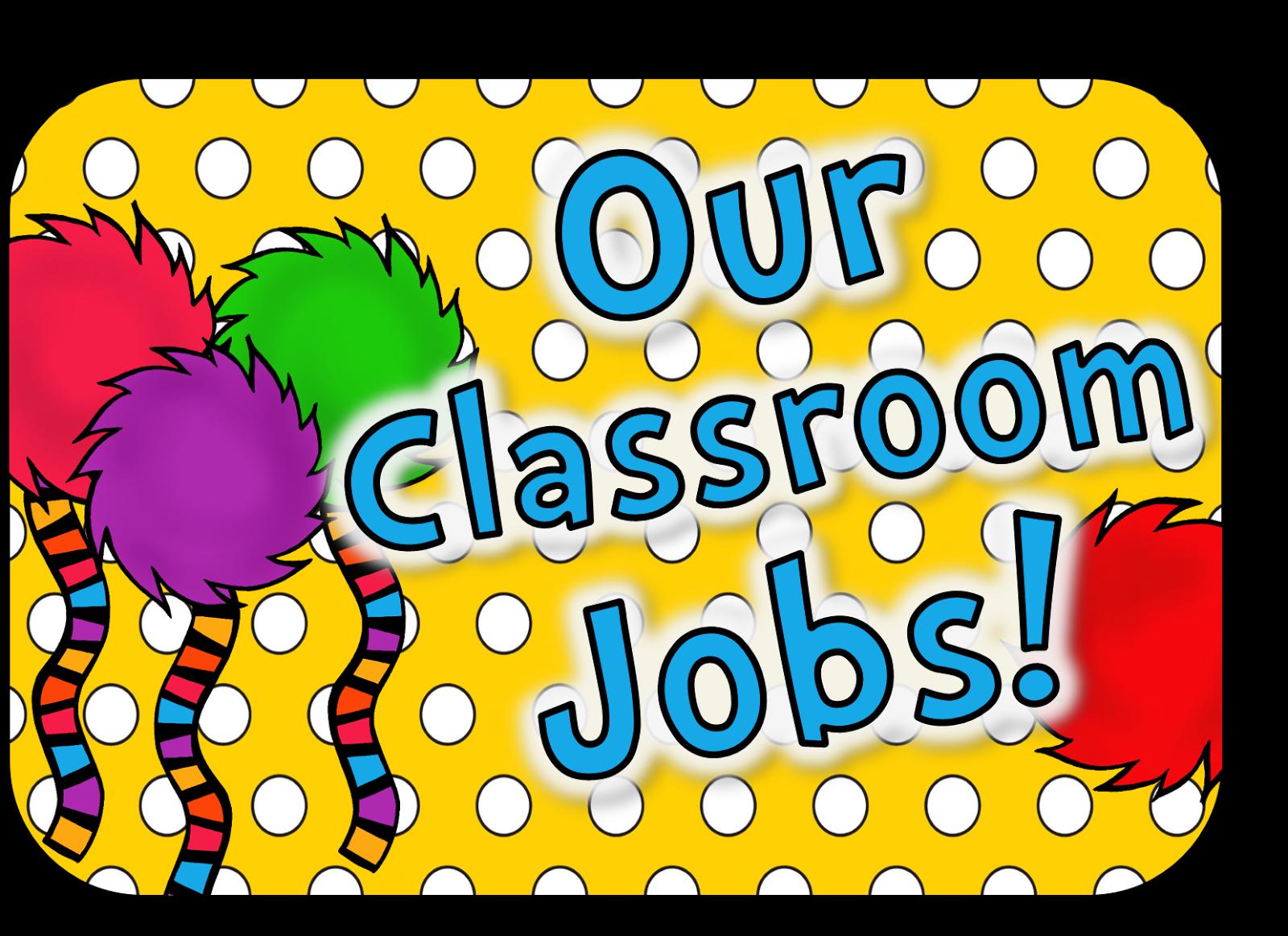 Classroom Job Clipart.