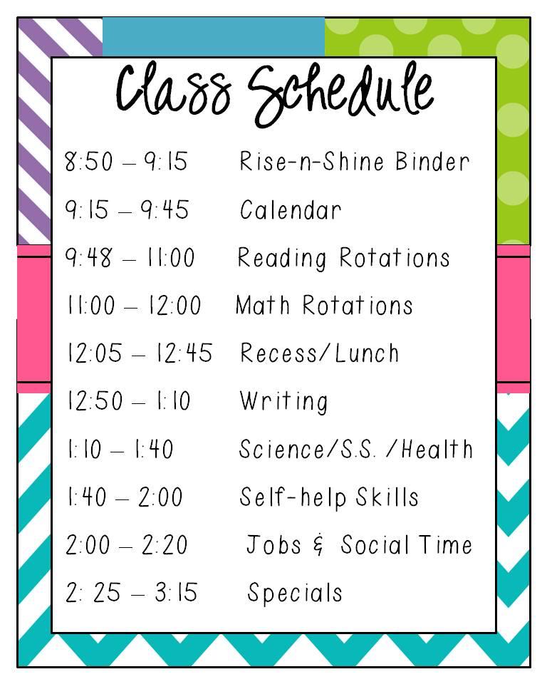 Teacher class list clipart.