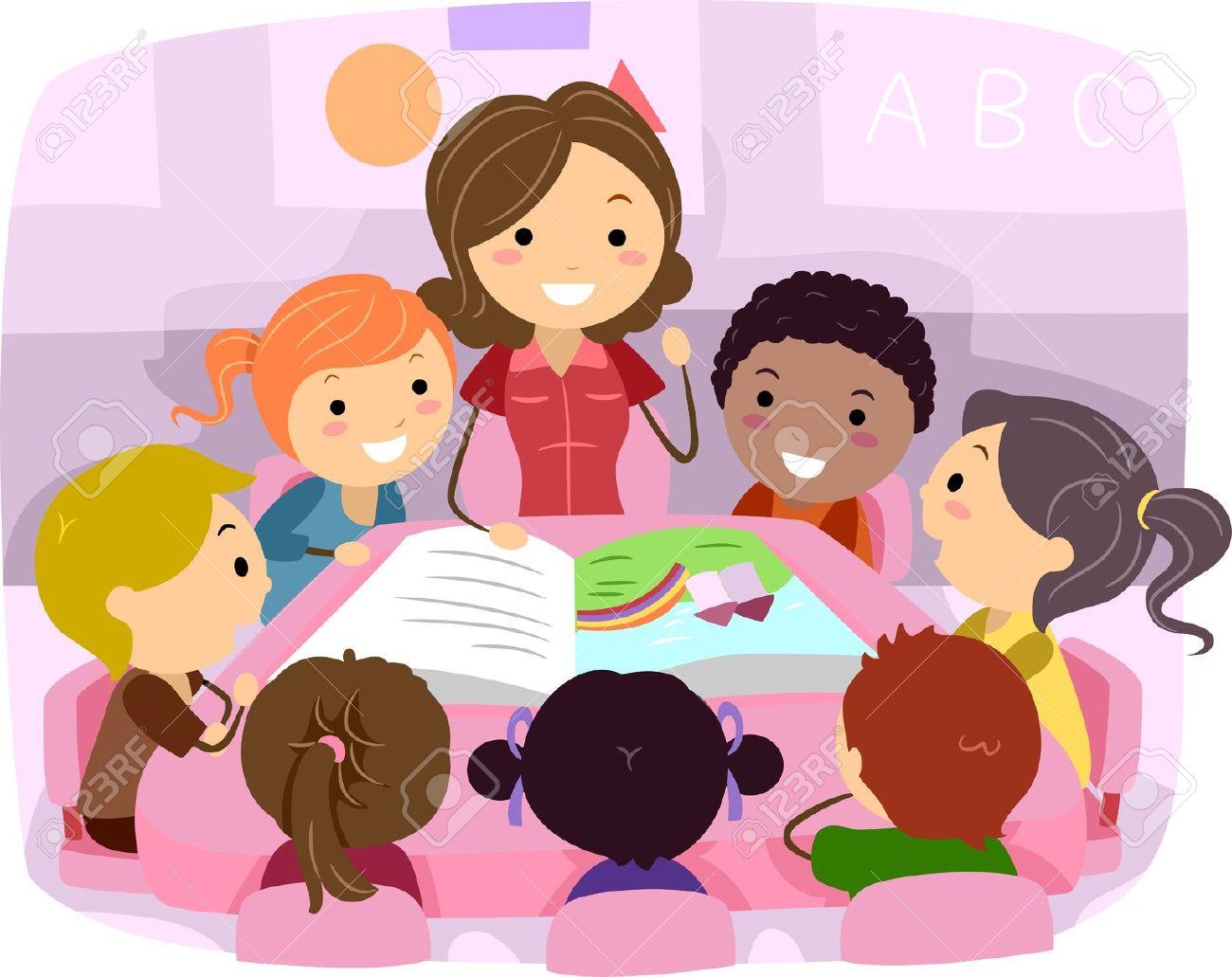 Class Listening To Teacher Clipart.
