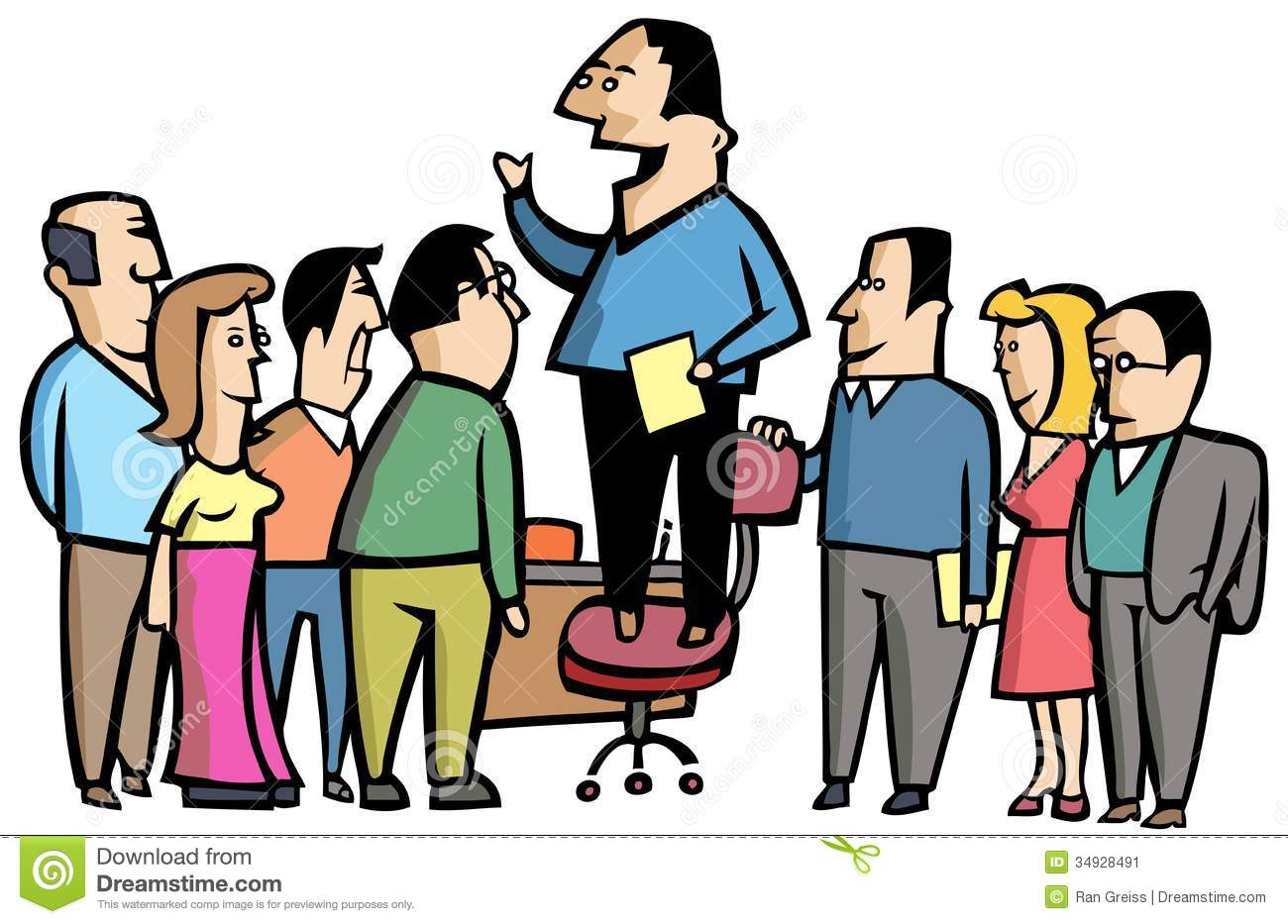Office Meeting Clipart.