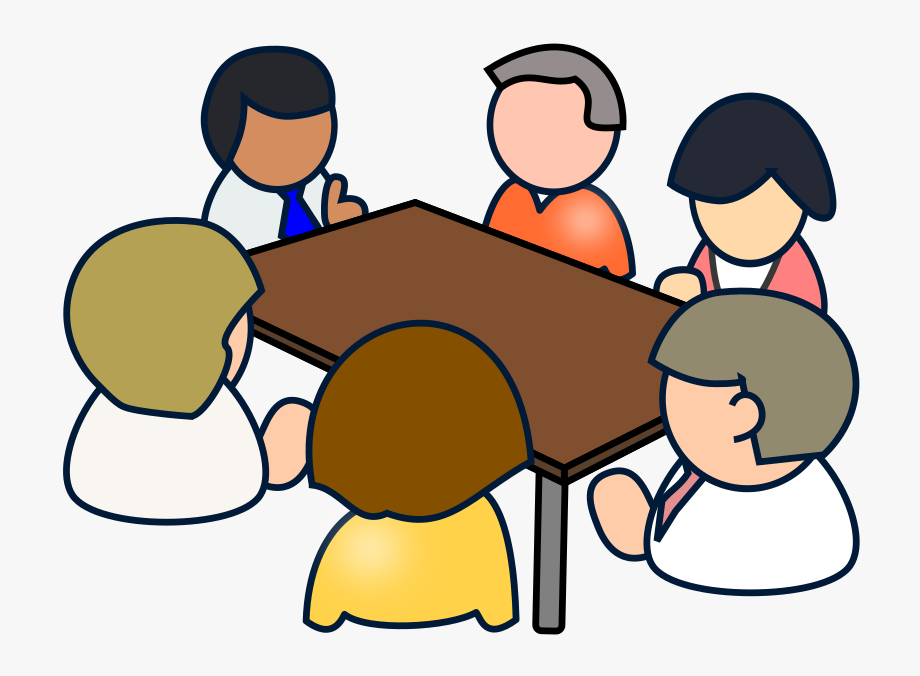 Clipart Diverse Meeting.