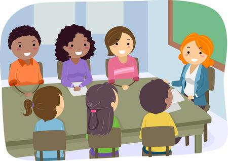 5,359 Teachers Meeting Stock Vector Illustration And Royalty Free.