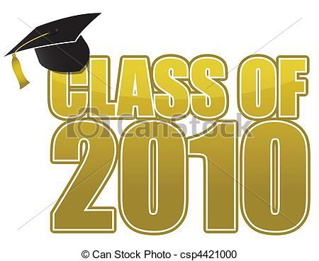 Vector Clipart of Graduation 2010.