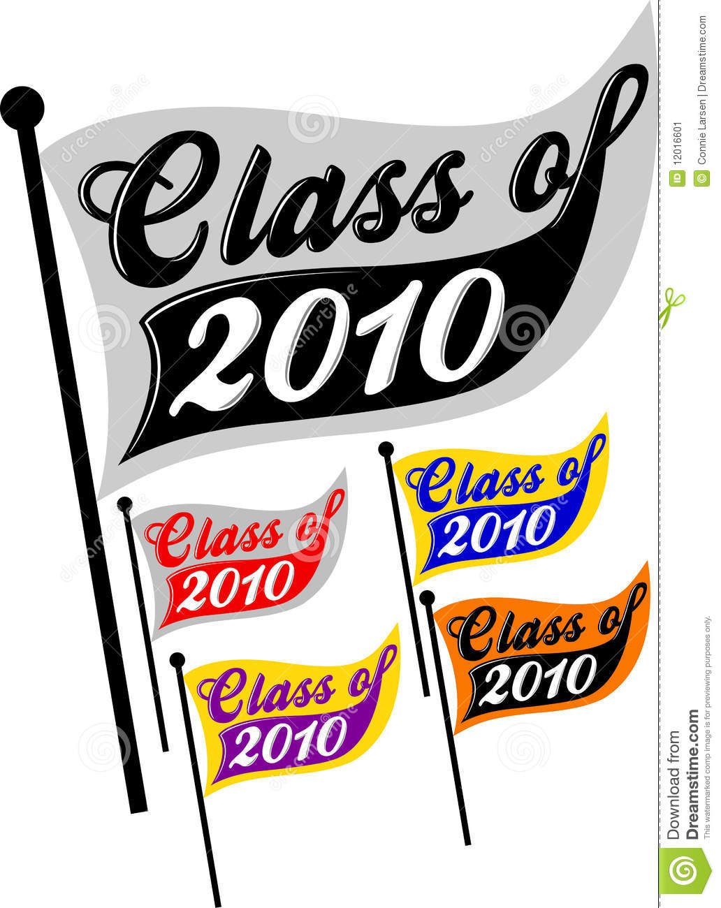Class Of 2010 Pennant/eps Stock Image.