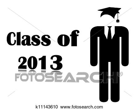 Background class of 2013. Clipart.