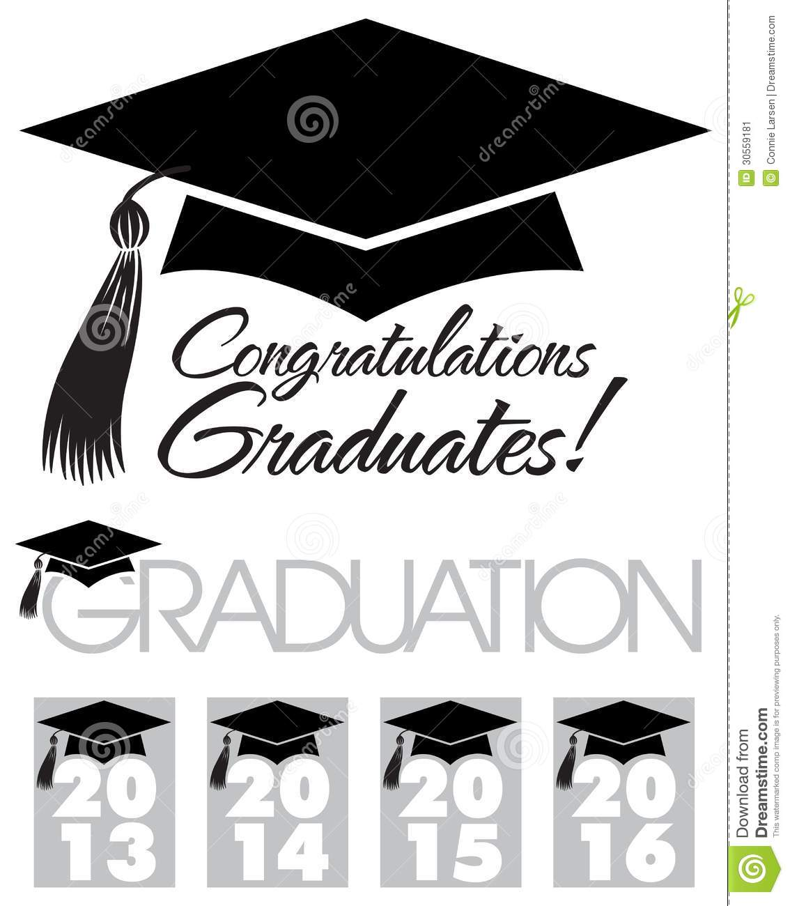 Congratulations Graduates Cap/eps Stock Vector.