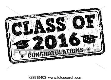 Class of 2016 stamp Clipart.