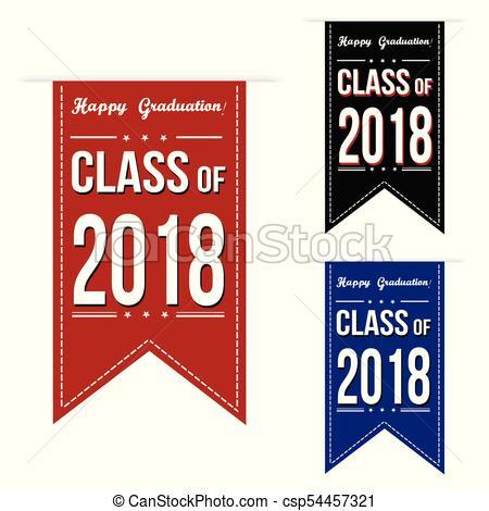 Class of 2018 banner design set.