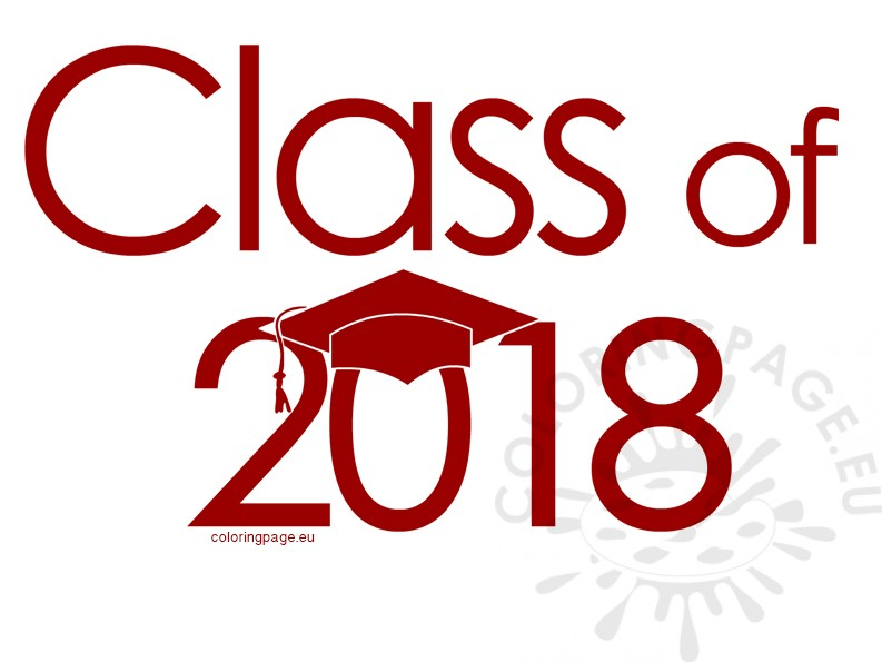 Class of 2018 red clipart.