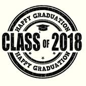 Class of 2018 stamp Clipart.