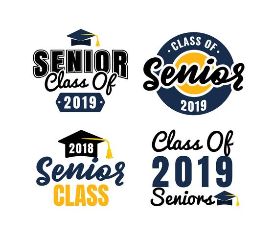 Senior Class Logo Badges.