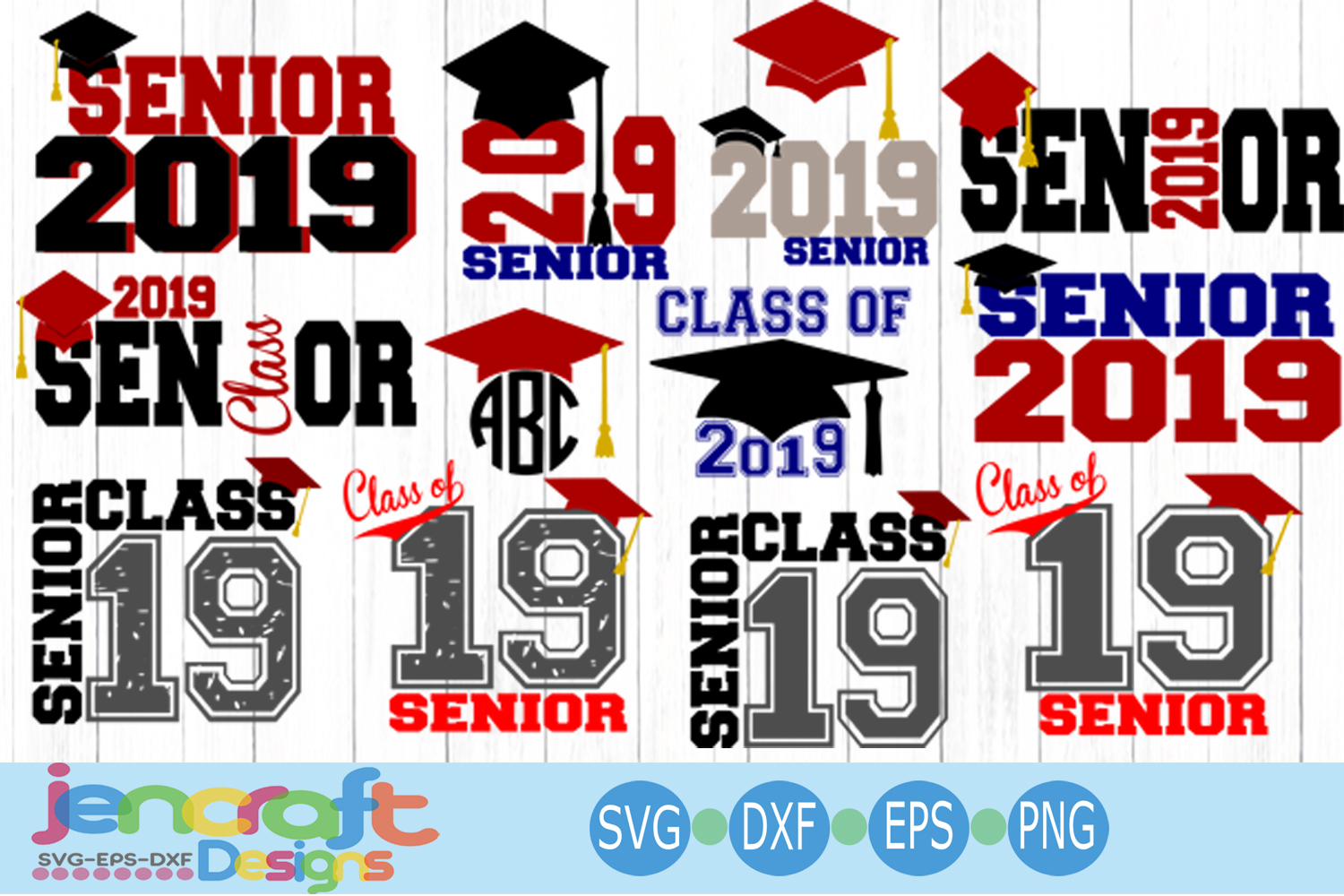 Graduation Senior Class Of 2019 Bundle SVG, EPS, DXF, Png.