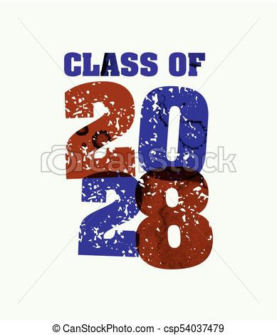 Class of 2029 Concept Stamped Word Art Illustration.