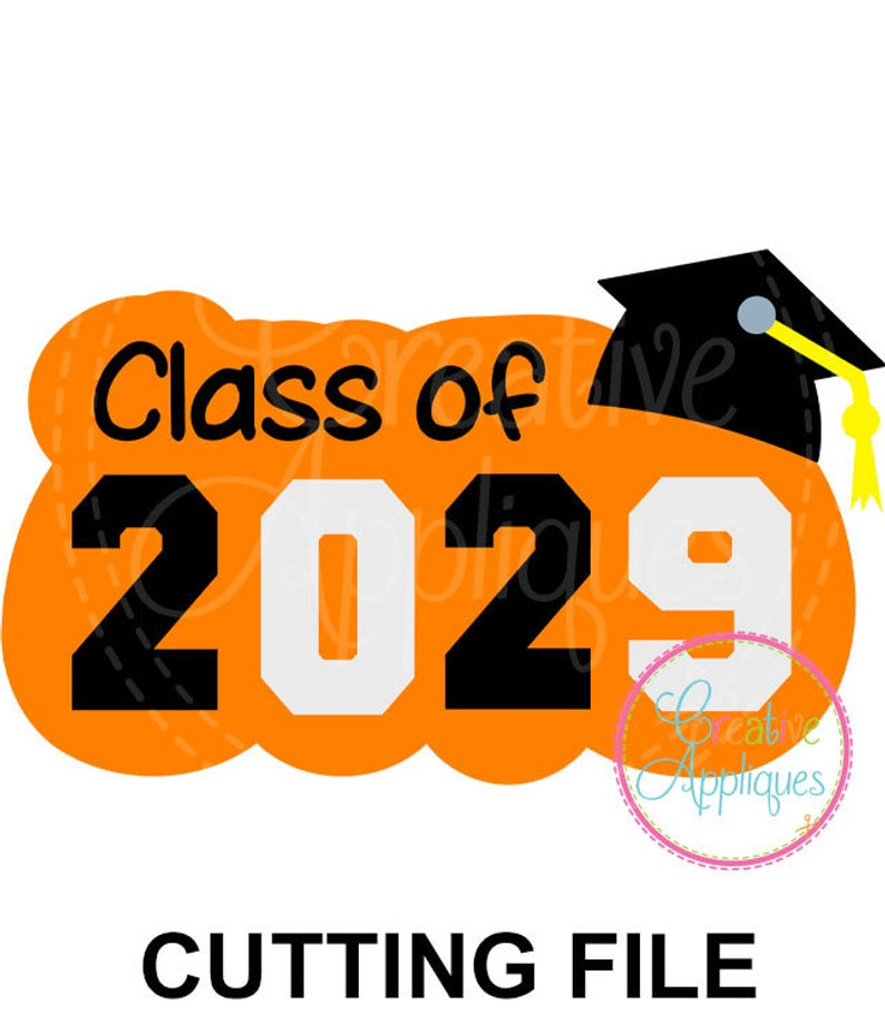 Graduating Class of 2029 SVG Cutting File, school svg, graduation svg,  graduating cut file, 2029 svg,.